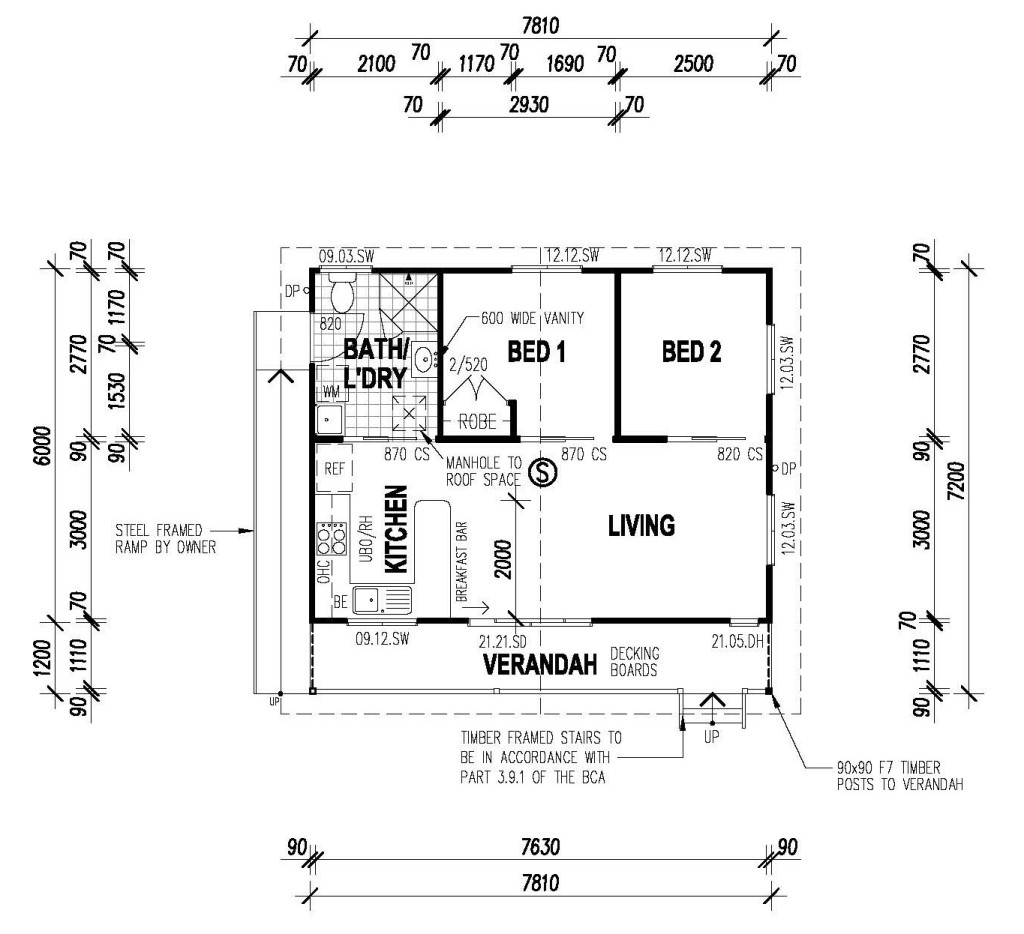 The retreat two bedroom option all granny flats for 2 bedroom granny flat plans