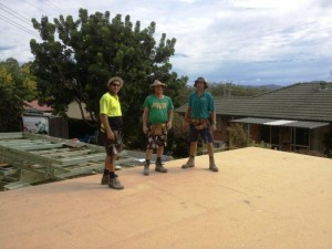 PIC 20  BEARERS JOISTS AND SHEET FLOORING COMPLETED 46.86M2 LAID IN 5 HOURS